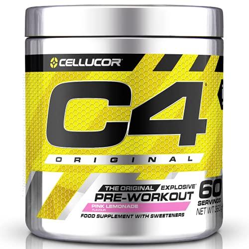 C4 Original - Suplemento en polvo para preentrenamiento - Limonada rosa | Bebida energética para antes de entrenar | 150mg de cafeína + beta alanina + monohidrato de creatina | 60 raciones