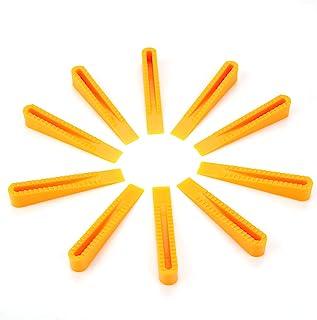 Cuneo di livellamento per piastrelle Aramox distanziatori livellatori per piastrelle in plastica gialla da 100 pezzi per strumenti di piastrellatura