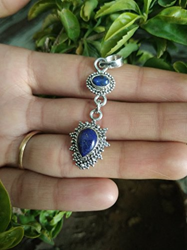 Blue Topaz Pendant,Handmade Vintage Pendant,92.5 Sterling Silver antique Design,special Day Gift,Boyfriend Gift,Topaz Gemstone Jewelry