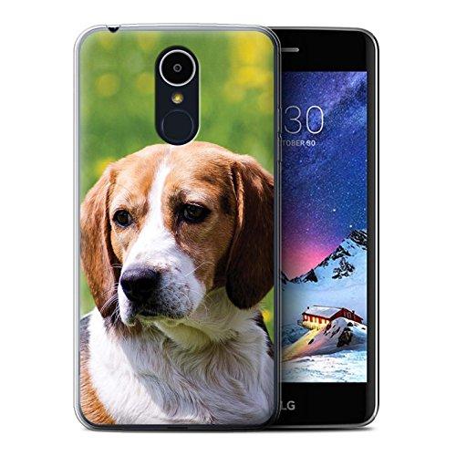 eSwish Carcasa/Funda TPU/Gel para el LG K8 2017/M200 / Serie: Razas Perro/Canino Populares - Beagle/Sabueso