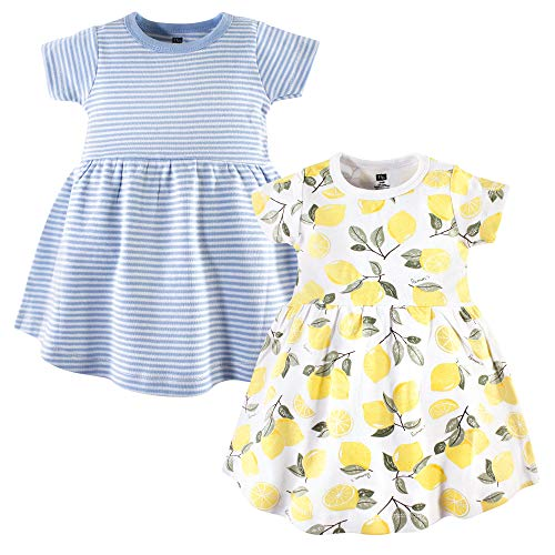 Hudson Baby Girl's Cotton Dresses, Lemons, 2 Toddler