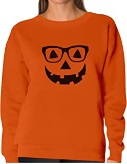 Jack O' Lantern Pumpkin Face - Easy Halloween Costume Women Sweatshirt