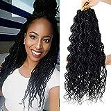 8 Packs Wavy senegalese twist crochet hair for black women 18 inch crochet braid senegalese twists Synthetic Braiding Hair Extension