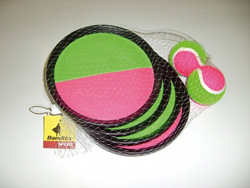 Klettball (Catchball-Spiel) mit 4 Fangscheiben und 2 Klettbällen