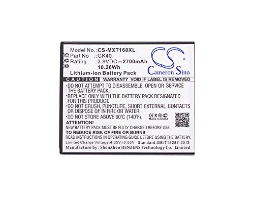 Cameron sino Batería de ion de litio de 2700 mAh para Motorola Moto G4 Play, XT1607, XT1609, XT1600, compatible con Motorola GK40