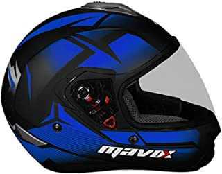 MAVOX FX21 D3P 580 Full Face Helmet (Black and Blue, 580 mm)