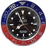 REPLICA Reloj de pared GMT II Master de 35 cm de metal con movimiento silencioso + 2 CD de audio de regalo