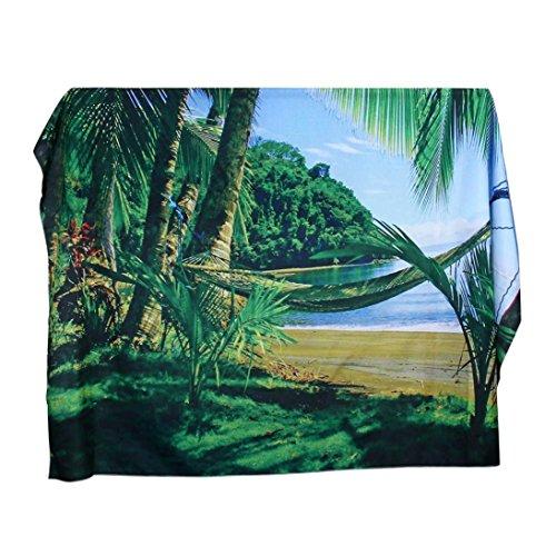 Gaddrt Cascade de la plage suspendue Wall tapisserie bohémienne hippie pour couvre-lit maison Decor, 130x150cm (H)