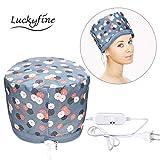 LUCKYFINE 110v Hair Thermal Steamer Treatment SPA Cap Nourishing Care Hat New Beauty Steamer Nourishing Hat, Deep Conditioning Heat Cap