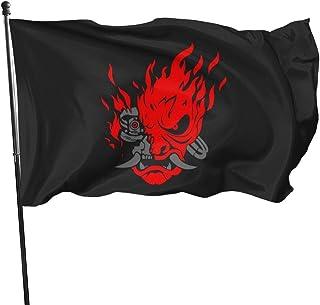 Cyberpunk 2077 (Samurai Demon) Polyester Flag, Banner Flags