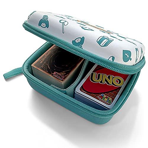 Étui de Transport Rigide pour Cartes à Collectionner, Compatible pour UNO, Yu-Gi-Oh, MTG Magic, Ninjago carte, Pokémon, GX EX, Amiibo Animal Crossing, Chatons explosifs, Skip-Bo, Phase 10, SKYJO