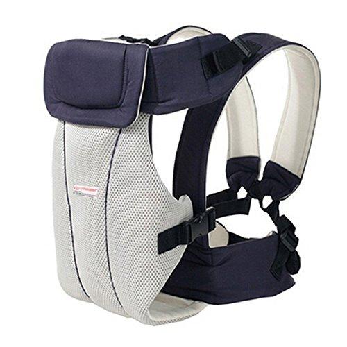 Minetom Atmungsaktive 2-30 Monate Baby Carrier Multifunktions Front Nach Babytragerucksack Babyriemen Babywickel Rucksack Babyträger Dunkelblau Einheitsgröße