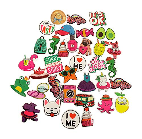 KP KOOL PRODUCTS 35 pcs Stickers for hydroflask, Water Bottle, Laptop, Computer, Cellphone, Gadget, Skateboard, Gift for Girls or Boys