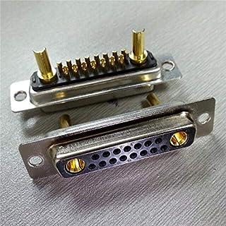 كابلات ووصلات الكمبيوتر - أنثى ذكر 15Pin قابس محول 17W2 مع نوع التماسك المطلي بالذهب عالي التيار 30A (محول vga للإناث)