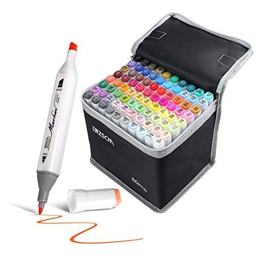 rotuladores doble punta a base de alcohol, Rotuladores de dibujo para niños o artistas (80 colors)