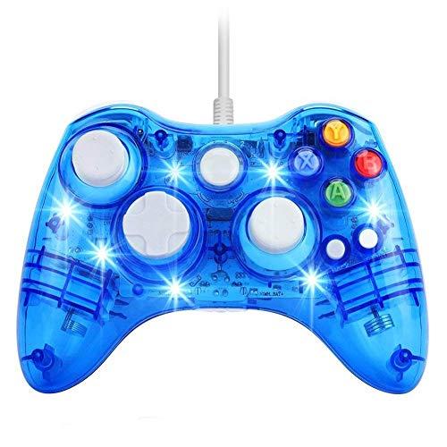 Zero starting point Controlador Gamepad, Controlador De Juego con Cable, Gamepad Mando para PS4, Bluetooth Controlador con Vibración, Joystick para Compatible Android/XBOX360/PC,Azul