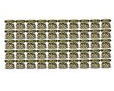 60er Set Sturzgläser Mini Gläser | Füllmenge 30 ml | Deckelfarbe Gold | To 43 Rundgläser...