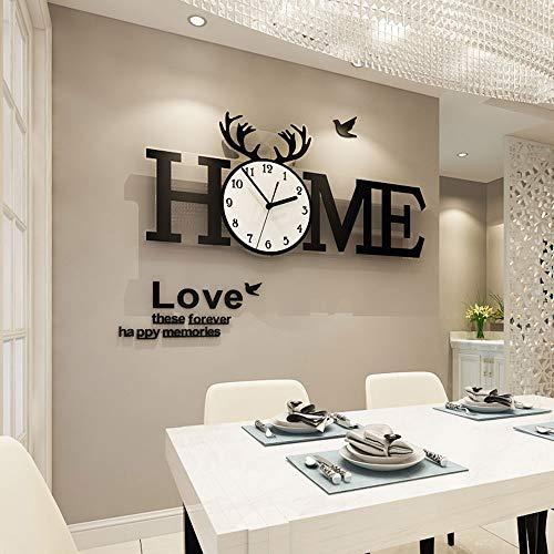 Nuanxin Stile Nordico Salotto Home Decoration Orologio Da Parete Adesivo Da Parete Trend Modern Simple Atmosphere, Materiale Acrilico, Installazione Semplice.Dimensioni: 70 * 31,5 Cm. Z10