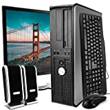 DELL Desktop Computer Package with WiFi, Dual Core 2.0GHz, 80GB, 2GB, Windows 10 Professional, DELL 17in Monitor (Renewed)']