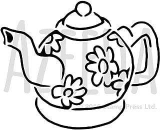Azeeda A5 'Flower Teapot' Wall Stencil / Template (WS00025888)