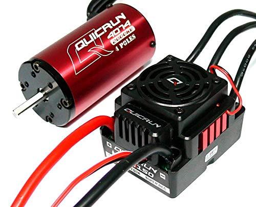 PCtech HOBBYWING QUICRUN 4074SL 2000KV Sensorless Brushless Motor & 8BL150 150A ESC+ Card Combo