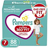 Pampers Diapers Size 7, 88 Count - Pampers Pull On Cruisers 360° Fit Disposable Baby Diapers with Stretchy Waistband, ONE Month Supply (Packaging May Vary)