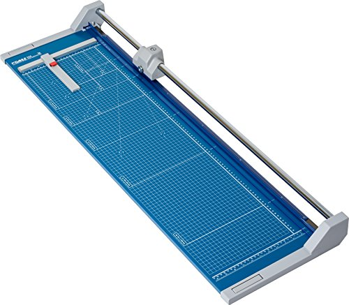 """Dahle 556 Professional Rolling Trimmer, 37-3/4"""" Cut Length, 14 Sheet Capacity, Self-Sharpening, Automatic Clamp, German Engineered Paper Cutter, Blue, Gray (00556-21248)"""