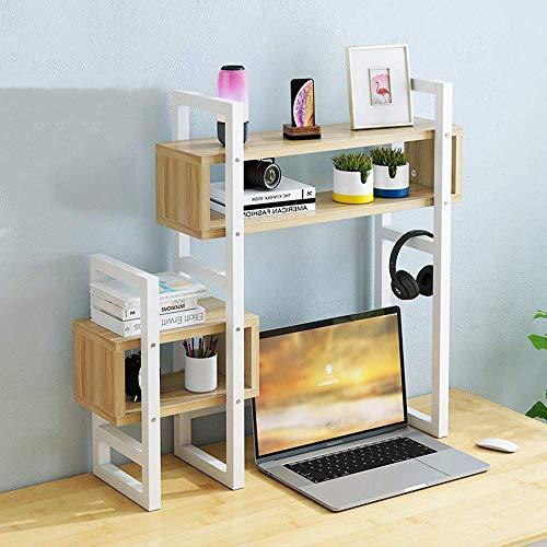 YLCJ Simple Tabletop Bookshelf Multilayer Student Desk Shelf Household Iron Display Finishing Shelf Office Multifunctional Document