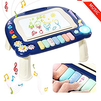 Magnetic Drawing Board 16 X 13 Inch Large Magna Doodle Board with Music for Kids, Magnadoodle Sketch Pad for Toddlers