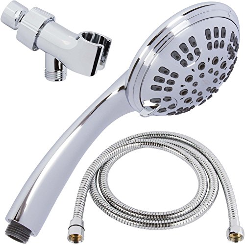 6 Function Handheld Shower Head Kit - High Pressure, Removable...