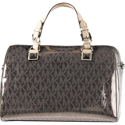 """Top zipper closure Double handles with 5"""" drop Adjustable detachable leather shoulder/crossbody strap with 19""""- 23"""" drop Interior features - 1 zip, 1 Cellphone and 3 multi-function slip pockets Measurements: approx. 13"""" L x 10"""" H x 7.5"""" D"""