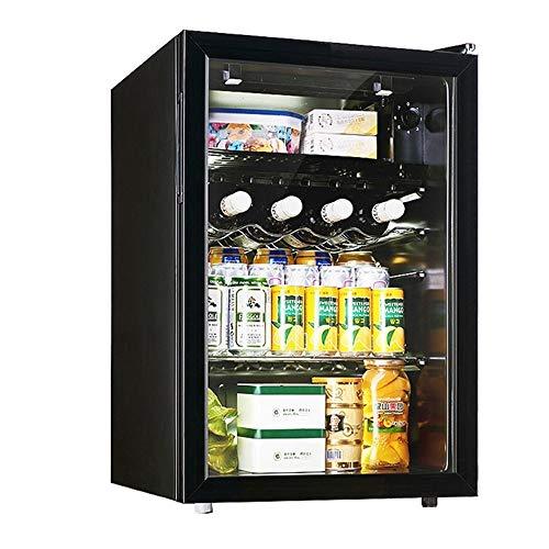 Mini Koelkast, 80L Wijnkast/Kabinet Wine Cellar Bier Koelkast Silent Compressor Instelbare Temperatuur Independent