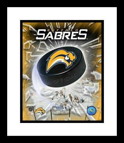Buffalo Sabres NHL Framed 8x10 Photograph Team Logo and Hockey Puck