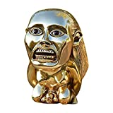Indiana Jones Polished Gold Chachapoyan Fertility Idol with Eye - Screen Accurate - Full Size, 1:1 Scale Raiders of The Lost Ark Cosplay Props Replica, Golden Sculptures & Statues Home Decor