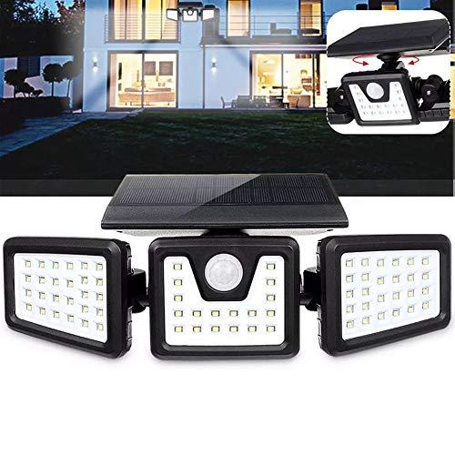 Be82aene 70 LED 3 Modi Solarwand-Licht-Bewegungs-Sensor Drehbare Außen Yard-Garten-Lampe Solar-Straßenleuchte
