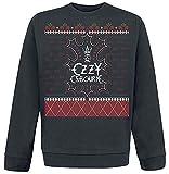 OZZY Osbourne (Black Sabbath) - Navidad - Oficial Sudadera para Hombre (Jersey) - Negro, Medium