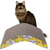 CER0T Kratzbrett für Katzen, gewellt, langlebig, doppelseitig, Kratzmatte für Haustiere,...