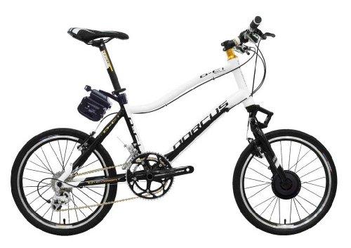 dorcus bicicleta eléctrica DC de 1Emotion 20g 20pulgadas, Negro/Blanco, 24V/11,6ah batería
