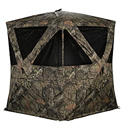 commercial Blinds Rhino R300-MOC, Hunting Blinds for 3 people, Mossy Oak Breakup Country turkey hunting blind