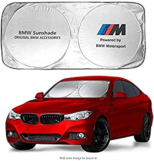 Ephvan 150X70cm Car Window Sun Shade Car Windshield Visor Cover Block Front Window Sunshade UV Protect Car Window Film (fit BMW)