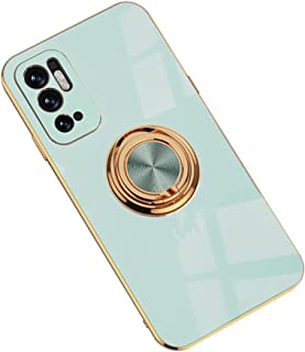 Hicaseer Case for Redmi Note 10 5G,Ultra-Thin Ring Shockproof Flexible TPU Phone Case with Magnetic Car Mount Resist Durab...