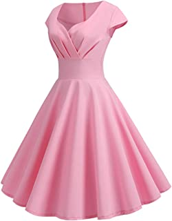 Womens Dresses Party Dresses 1950s Vintage Rockabilly Prom Dresses Swing Stretchy Dresses