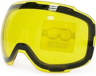 1784033fef KOMNY Lunettes de Ski magnétiques Nouvelle Marque COPOZZ Double Couches  UV400 Anti-buée Grand Masque