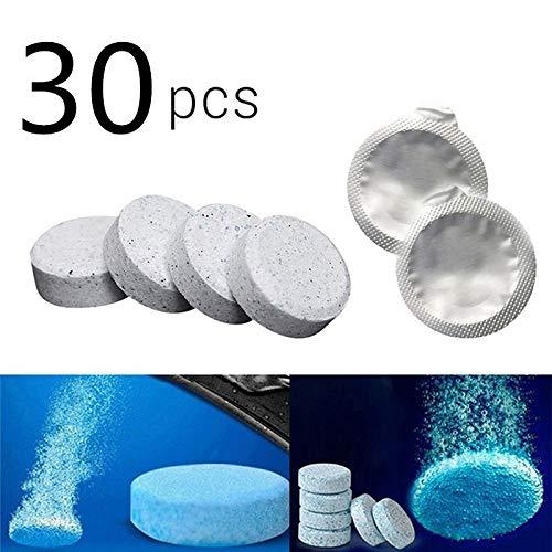 Yesoa 30 Stück Brausetabletten für die Windschutzscheibe, Glas, Zuhause, Fensterreinigung, onzentrierte Tabletten.