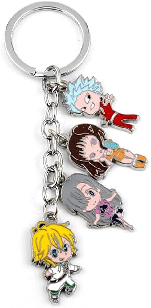 Anime The Seven Deadly Sins Meliodas Diane Ban Gowther Enamel Pendant Keychains