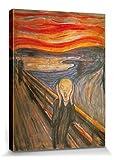 1art1 Edvard Munch - Der Schrei, 1893 Bilder Leinwand-Bild