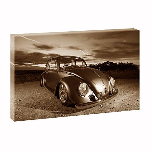 Dwarskleuren VW panoramabeeld in XXL formaat poster fotobehang modern op canvas verschillende kleuren en maten, Sepia 120cm x 80cm