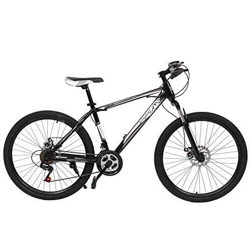 26' Mountain Bike, 21-Speed Full Suspension Bicycle Height adjustable Dual Disc Brake MTB