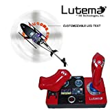 Lutema 2.4GHz Heligram Flight Simulator Remote Control Helicopter with LED SkyText TechnologyRed