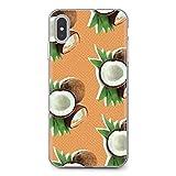 Étui Personnalisé Cas De Téléphone Fruit Coconut Blue Sky Beach For Y5 2018 2019 8S 9X Pro case...